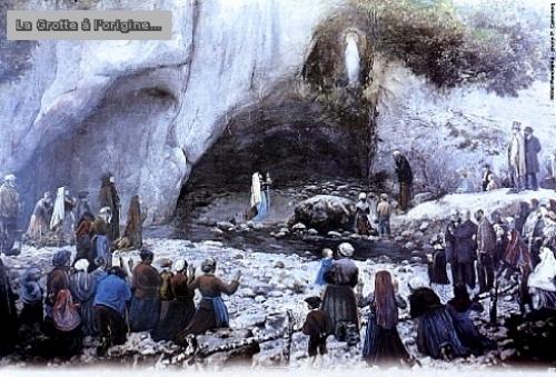 Grotte ancienne Lourdes